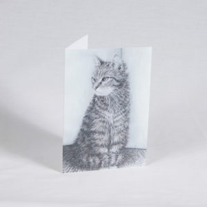 This is a photo of the pet sympathy card called Cat on the mat